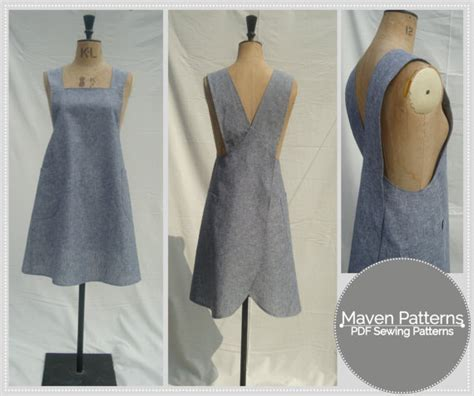 japanese dress design pattern the maria wrap apron pdf sewing pattern japanese apron