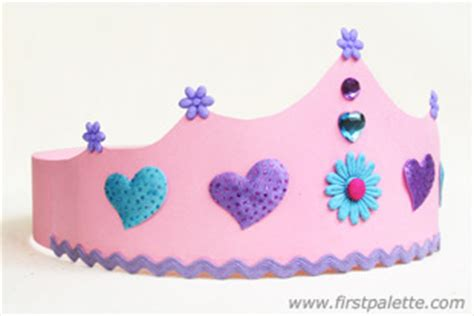 Papercraft Crown - paper crown craft crafts firstpalette