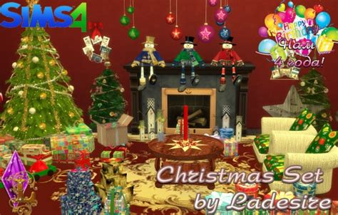 sims 3 christmas decor cc ladesire creative corner set sims 4 downloads