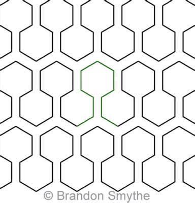honeycomb pattern name honeycomb effect brandon smythe digitized quilting designs