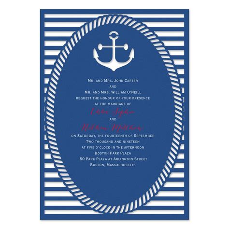 wedding invitations nautical nautical style laser cut invitation invitations by