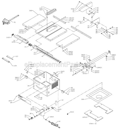 delta bench saw parts delta ts350 parts list and diagram type 1