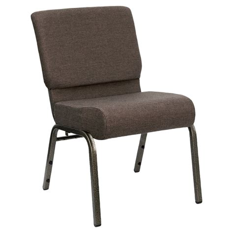 choir chairs brown 21 quot wide church chair with gold vein frame