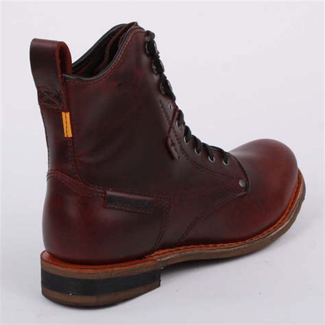 oxblood mens boots caterpillar orson mens laced leather boots oxblood
