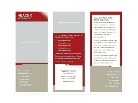 Cool Church Brochures 3 Info Phlet Template Meetwithlisa Info Information Booklet Template