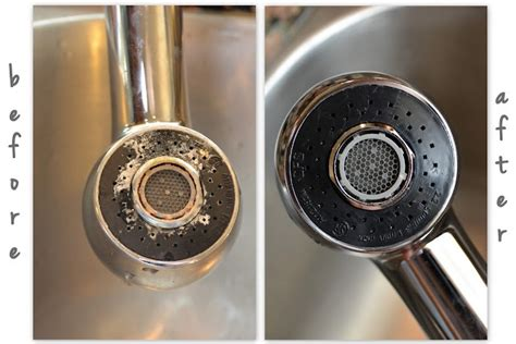 clean your kitchen faucet cleaning pinterest