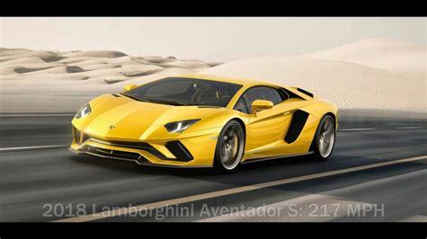 fastest lamborghini vs fastest top 10 fastest cars in the world 2017 2018 youtube
