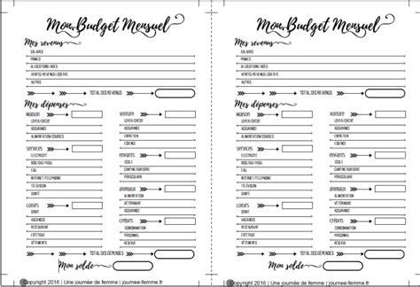 Calendrier Budget Mensuel Imprim 233 Planner Mon Budget Mensuel Une Journ 233 E De