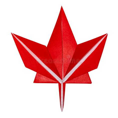 Origami Paper Canada - origami fall maple leaf stock photo image 75944885