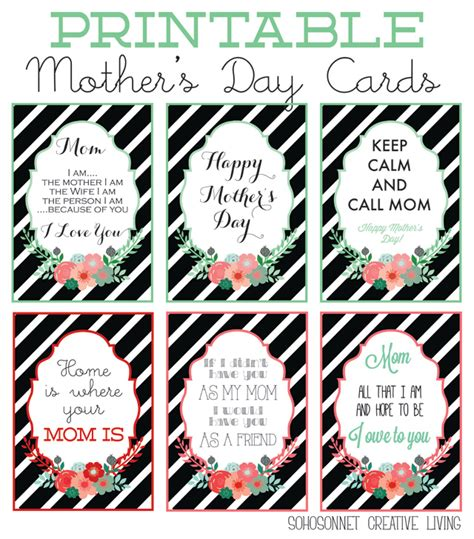 printable christmas cards to mom creative handmade mothers day gifts and printables for