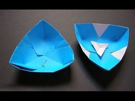 Easy Origami Bowl - how to make an origami paper bowl