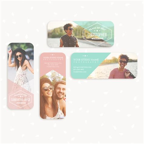 senior rep card templates free senior rep cards templates for photographers strawberry kit