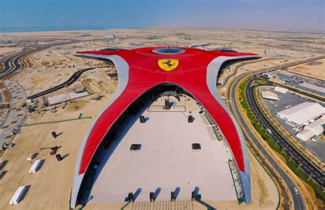 ferrari world ferrari world abu dhabi teases one of two planned roller
