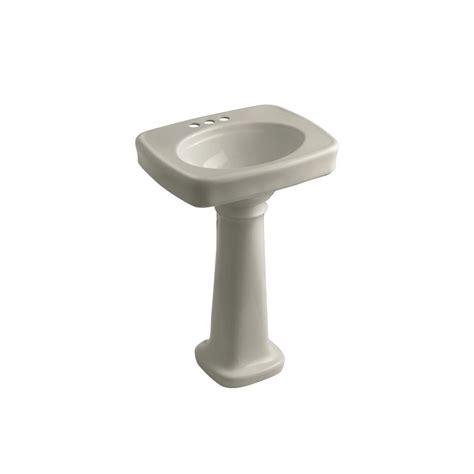 kohler bancroft pedestal sink kohler bancroft pedestal combo bathroom sink in sandbar k