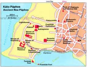 kato paphos map cyprus
