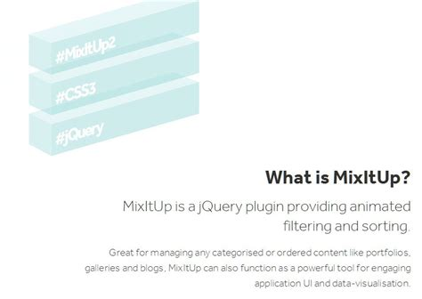 Mixitup Documentation