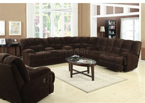 50475 Ahearn Motion Sectional Sofa In Chocolate Fabric By Acme Motion Sectional Sofas