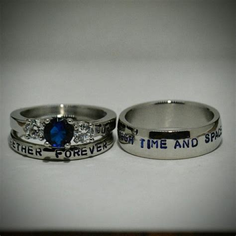 doctor who inspired 3 wedding set sted
