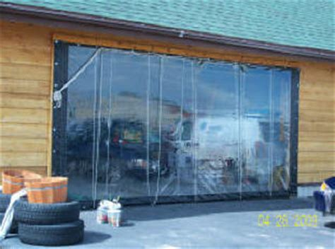 solar heated shopgarage  vinyl curtain