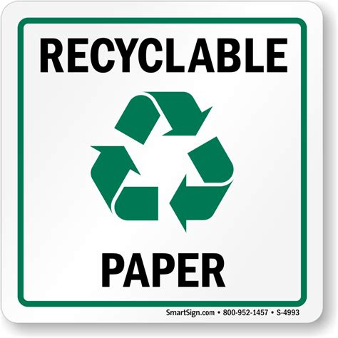 Recycle Paper - recycle here signs recycling here labels