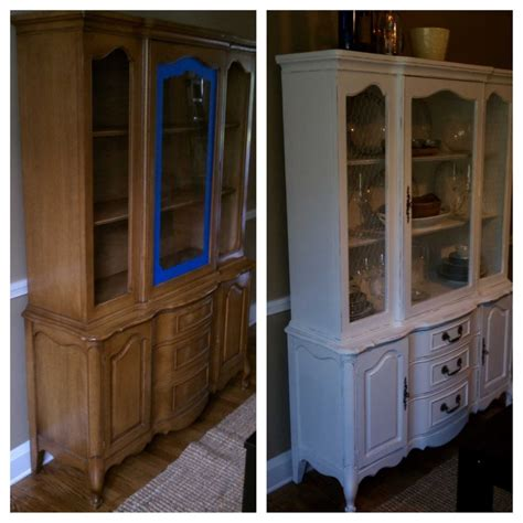 painted china cabinet before and after pin by wilcox on china cabinet