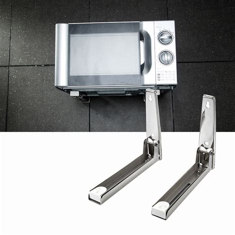 Microwave Shelf Bracket Wall Mount by New Silver Foldable Rack Stretch Shelf For Microwave Oven