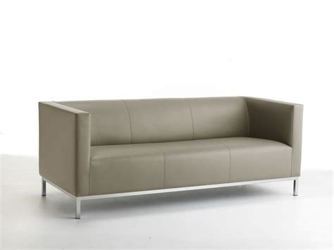 linear sofa 3 seat chromed steel base idfdesign