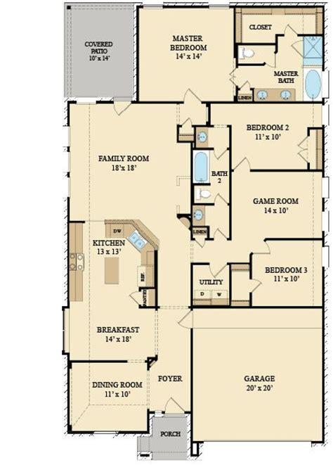 lennar homes floor plans houston travertine 3734 brick new home plan in oakhurst at