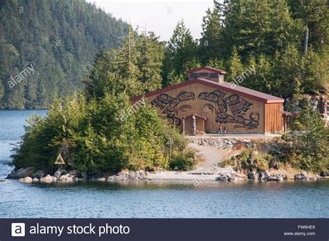 buy house in vancouver bc canada a big house in the kitasoo xai xais first nation community of klemtu stock photo