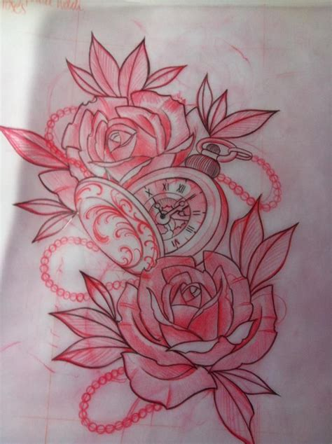 compas rose tattoo inspiration clock compas tattoos