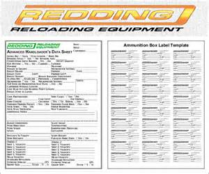 Labels By The Sheet Templates by Free Printable Reloading Data Sheets And Box Label