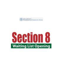 when is section 8 waiting list open new jersey state section 8 wait list opens soon at http
