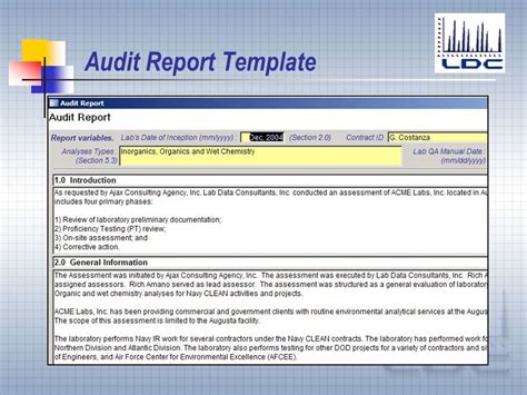 Sle Audit Report Template Sle Of An Audit Report 28 Images Audit Report Sles 28