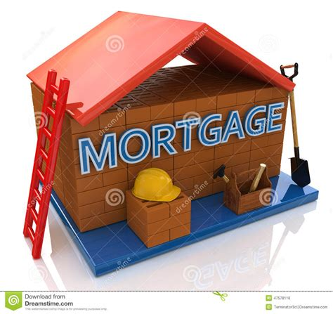 mortgage on a house mortgage to build a house stock illustration image 47578116