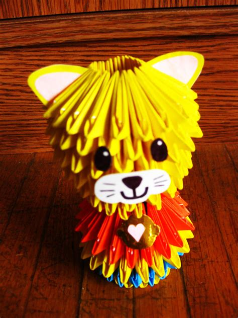 How To Make A 3d Origami Cat - 3d modular origami cat by kasmiria on deviantart
