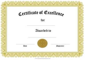 printable achievement certificate template formal award certificate templates