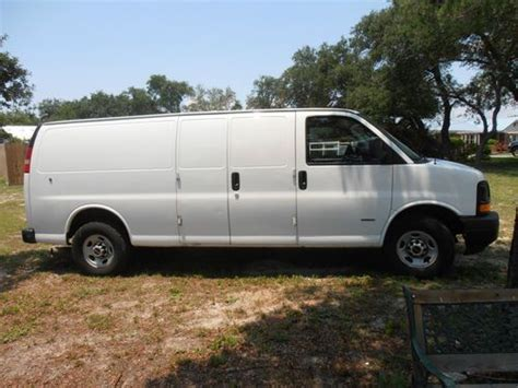 how to sell used cars 2007 gmc savana 2500 electronic throttle control purchase used 2007 gmc savana 3500 duramax 6 6l 10 extended cargo van in gulf breeze florida