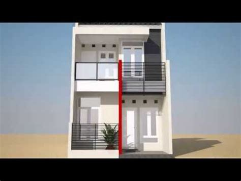 desain rumah minimalis  lantai type  youtube