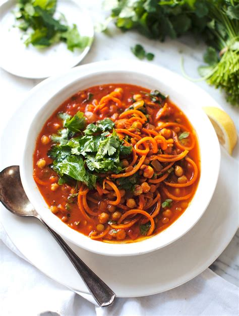 chickpea sweet potato noodle soup my new roots