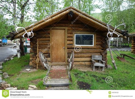 Cabin Plans Alaska by A Whimsical Log Cabin Stock Photo Image Of Weathered