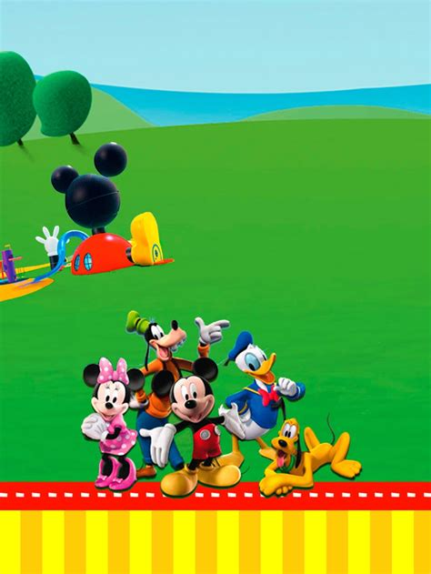 mickey mouse clubhouse invitation template mickey mouse clubhouse birthday invitation template