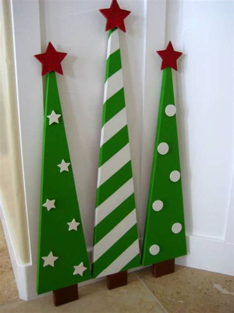 painted wooden trees wooden trees decoration by laurasoriginals2 on etsy