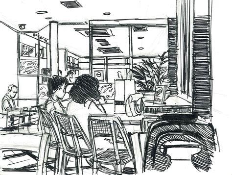 My Upcoming Hiatus And A Tokyo Coffee Shop Sketch