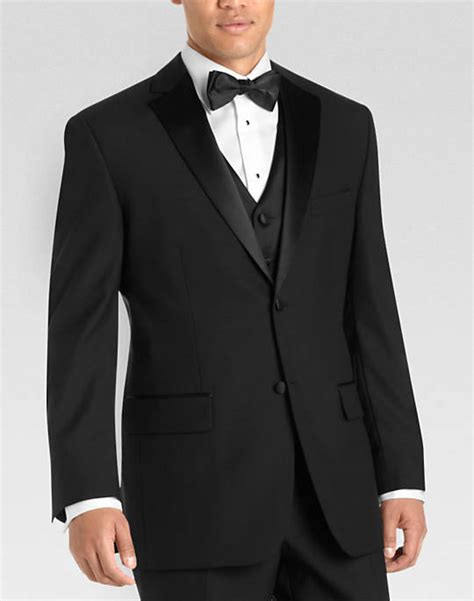 Mens Wearhouse Black Modern Fit Tuxedo S Tuxedos Wilke Rodriguez