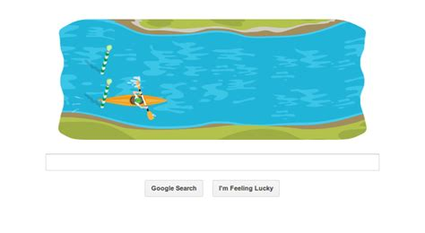 doodle to play play the canoe slalom doodle