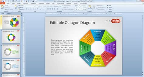 Free Editable Octagon Diagram For Powerpoint Free Powerpoint Templates Slidehunter Com Free Editable Powerpoint Templates