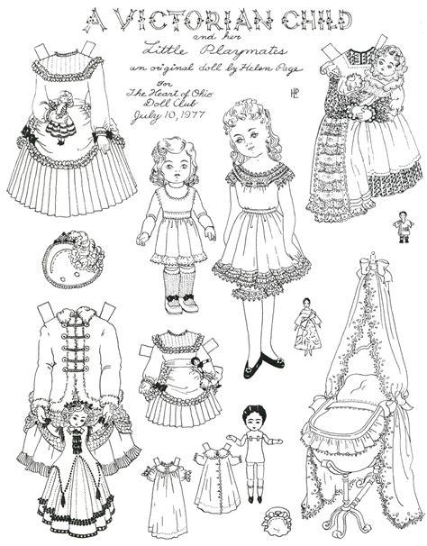 printable victorian paper dolls megsy v illustration victorian clothes