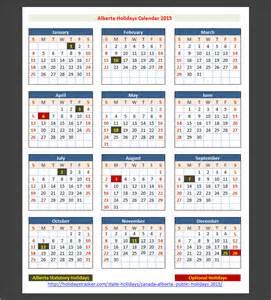 2018 Calendar Alberta Alberta Canada Holidays 2015 Holidays Tracker