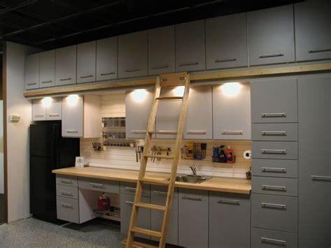Garage Cabinets Custom Custom Garage Storage Cabinets And Slat Wall Storage