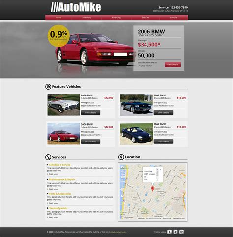 Car Rental Wix Website Template 47293 Wix Web Templates